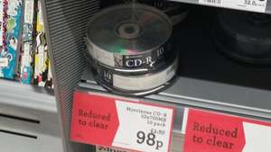 Blank CD & DVD discs from 98p @ Morrisons