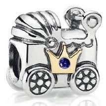 PANDORA BABY CARRIAGE CHARM Argento £6.95 inc carriage  91% off
