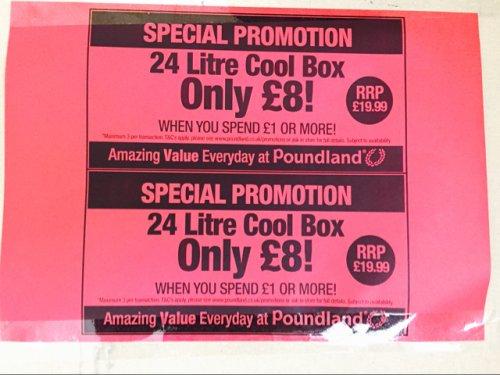 24 litre cool box only £8.00 @ Poundland