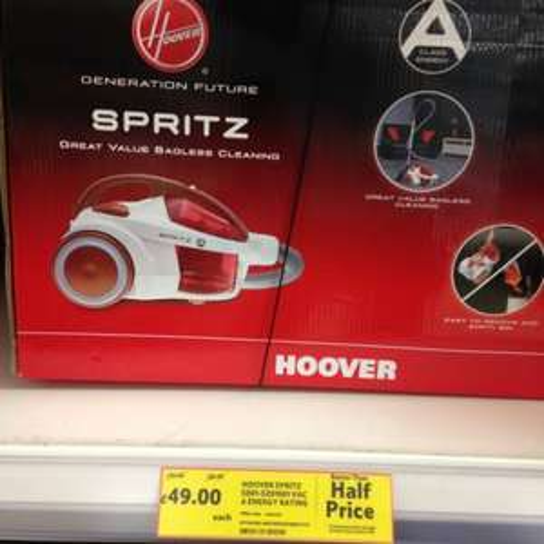 Hoover SE81SZ01001 Spritz Bagless Cylinder Vacuum Cleaner  £49.00 @ Tesco instore