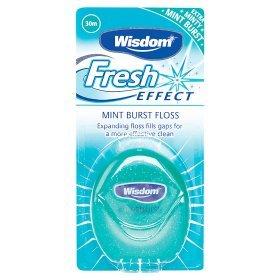 Wisdom Fresh Effect Mint Burst (expanding) Dental Floss 30m £1 at Asda