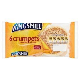 Kingsmill Crumpets Asda 6 pk 2 for £1
