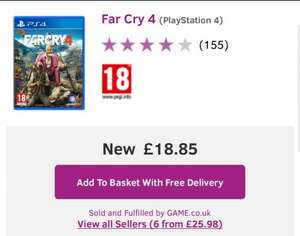 FarCry 4 PS4 & XB One £18.85 @ GAME (PS4 COPY STILL IN STOCK)