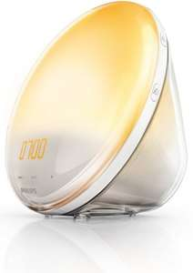 Philips Wake-Up Light Alarm Clock HF3520/01 Coloured Sunrise Simulation - 5 Sounds and Radio Function £83.99 down from £121 @amazon