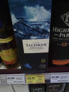 Talisker 10 Year Old Single Malt Scotch Whisky 70cl £24.74 reduced to clear @ Tesco