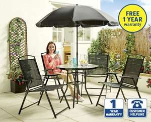 Essentials 6 Piece Garden Furniture Set   £39.99 @ Aldi (from 4 June)