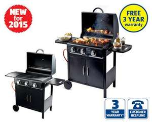 3 burner gas barbecue aldi from 4 june. Black Bedroom Furniture Sets. Home Design Ideas