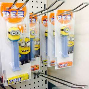 Minion Pez. £1 in Poundland. Dave or Stuart £1.00 at Poundland