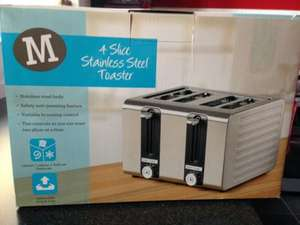 Morrisons stainless steel 4 slice toaster £12.50 half price