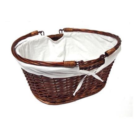 Chestnut Shopper Basket with Cream Liner £3.49 @ Dunelm Mill.  Bread basket £3.99
