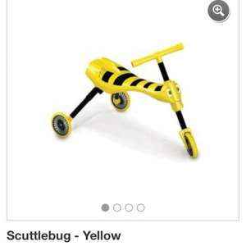 Scuttlebug yellow. Asda direct £14.50. Click and collect.