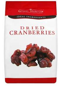 Natural Selection Dried Cranberries 79p @ Home Bargains