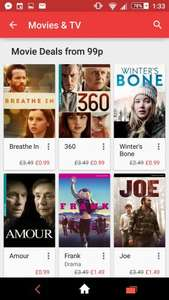 Google Play  99p Movies