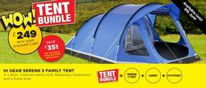 Hi Gear Serene 5 Family Tent Bundle £249.00 @ Go Outdoors