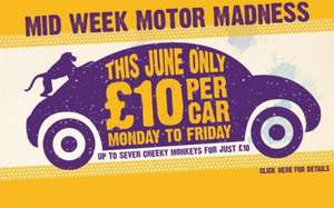 Knowsley Safari Park for £10 (for up to 7 people in one car) until the end of June. Monday to Friday only. Just pay on the gate.