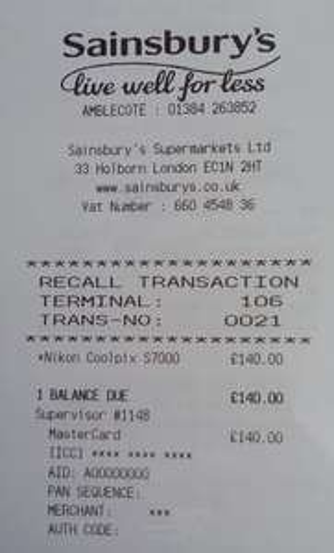 Nikon Coolpix S7000 £140.00 @ Sainsburys