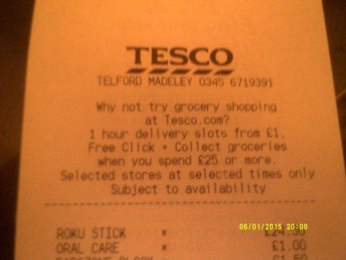 Roku Streaming Stick 3500EU £24.50 @ Tesco Madeley