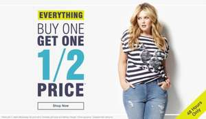 Buy One Get One Half Price on Everything Including Sale + Free Click & Collect at Evans
