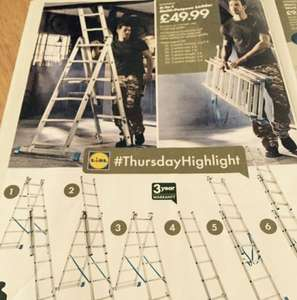 6-in-1 multipurpose powerfix ladder £49.99 lidl