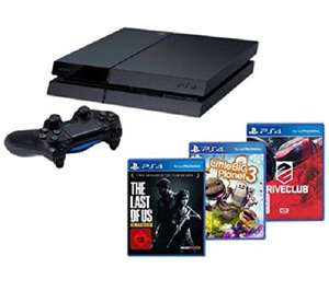 PS4 with Driveclub, Little Big Planet 3 and The Last Of Us Remastered for £325.99 plus £6.90 postage. (£332.89) From Pixmania