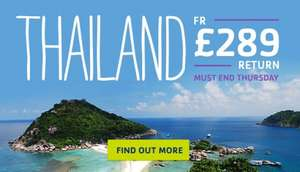 Return flights to Thailand for £289 (STA Travel)