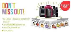 buy any 8 tassimo drinks and get ANY machine for £9.99! online tassimo.co.uk