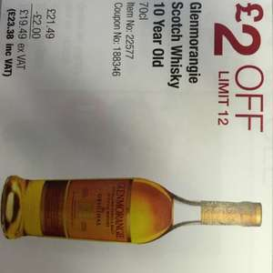 Glenmorangie 70cl £23.38 @ costco