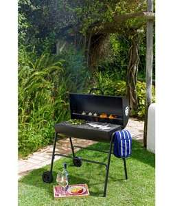 Oil Drum Charcoal BBQ with Cover £39.99 Free R&C @ Argos