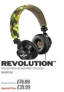 House of Marley Revolution headphones £39.99 - The house of Marley