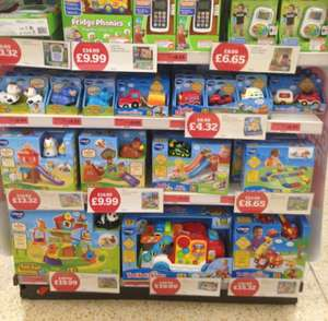 Reduced Vtech toys including Toot Toot range of toys from £4.32 @ Sainsburys