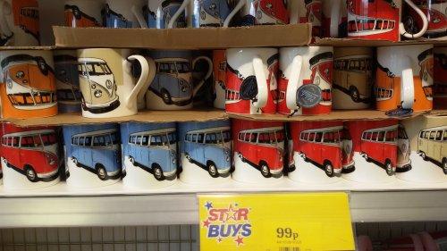 VW Camper mugs - 99p in Home Bargains