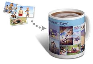 11oz photo mug - collage or single photo for £3  delivered using code at Truprint