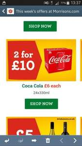 48 Cans of Coca Cola (24 pack £6 each or two for £10 in Morrisons Nationwide