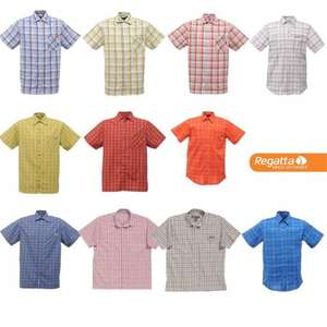 Regatta Mens Lightweight Quick Dry Summer Shirts £1.00 + £2.50 P&P (£3.50) @ Portstewart Clothing