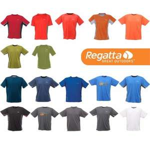 Regatta Mens Lightweight Technical Exercise T Shirts £3.30 + £2.50 P&P (£5.80) @ Portstewart Clothing
