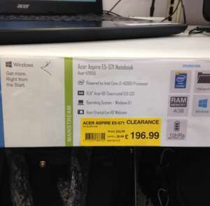 Acer Aspire E5 571 Notebook £196.99 @ Staples