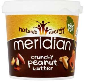 Meridian Crunchy Peanut Butter 1 Kg just £4.50 to £4.99 @ Amazon / Active Care
