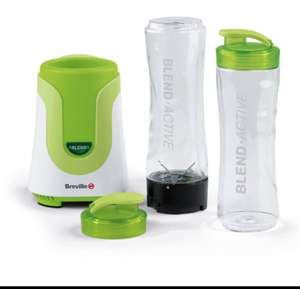 Breville Blend-Active Personal Blender - 300 Watt - White/Green (with free delivery) - excellent reviews £20.97 @  Dispatched from and sold by Amazon. Gift-wrap available.