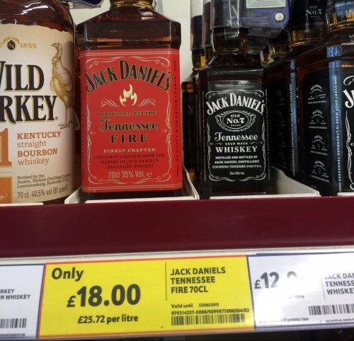 Jack Daniels fire £18 70cl £18 @ Tesco