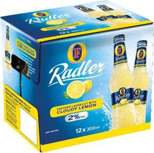 12 pack Fosters Radler Cloudy Lemon £3 - Home Bargains