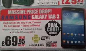 "Samsung 7"" Galaxy Tab 3 Referb £69.99 + £6.98 delivery @ IJT Direct"