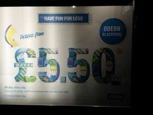 Odeon Blackpool - £5.50 All Tickets all the Time
