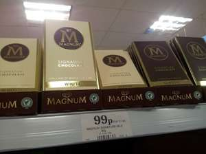 Magnum Signature Milk Chocolate 90g Bar 99p at Home Bargains White & Classic