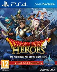 [Pre-order/Released 16th October] Dragon Quest Heroes: The World Tree's Woe and the Blight Below PS4 £33.41 @ Gameseek