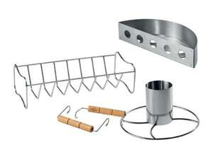 "Lidl BBQ deal, ""coals partition"" (good for indirect bbq cooking) & ribs rack, & chicken roaster (£3.99 each)"