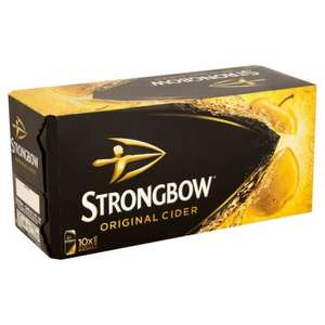 10 pack of strongbow cider 440ml £5.00 Morrisons