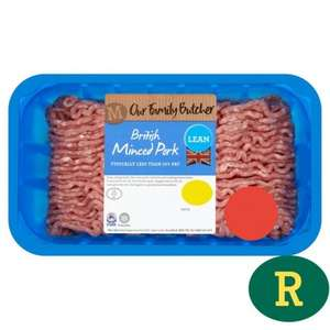 Morrisons British 13% Fat Minced Pork 525g Half Price - Now £1.49