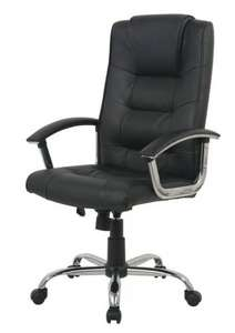 Black Berlin leather faced executive office chair £41.99 @ Ebay/viking_clearance_stock