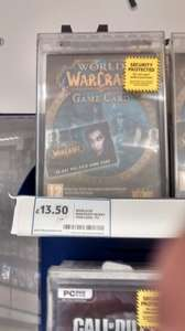 wow 60day game card £13.50 @ Tesco instore