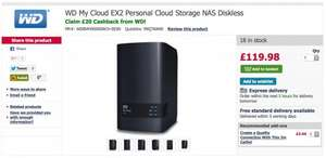 Western Digital My Cloud EX2 2-Bay NAS £99.98 at Dabs!